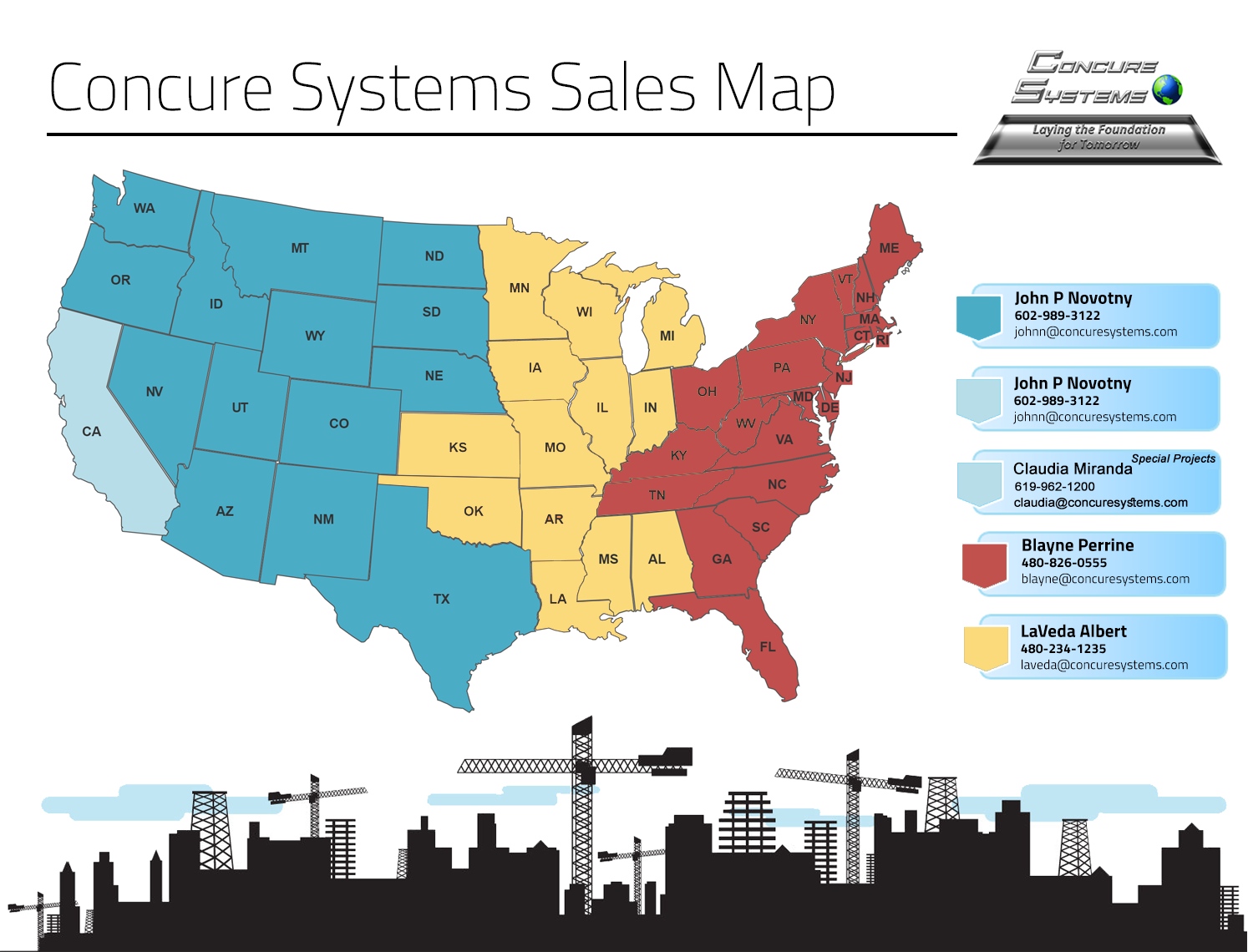 Concure Systems Sales Map